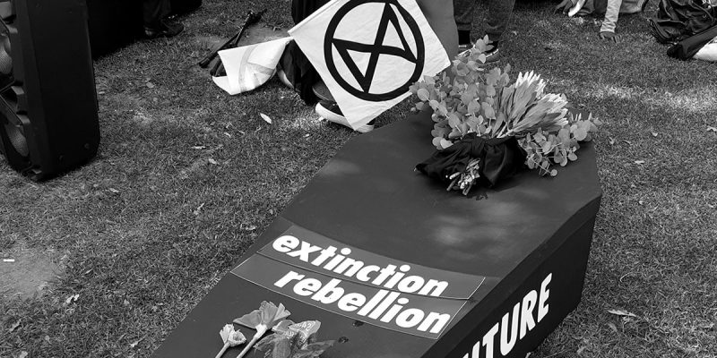 Extinction Rebellion has funeral for the earth in Cape Town